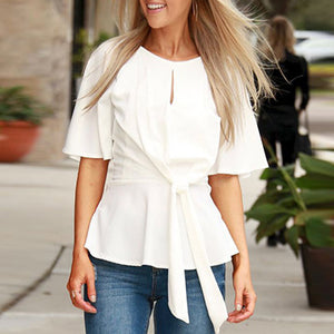 Waist Ruffled Skirt Top