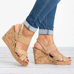 New Wedge Large Size Fish Mouth Ladies Sandals