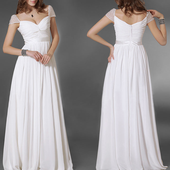 Elegant Chiffon V-Neck Sleeveless Dress
