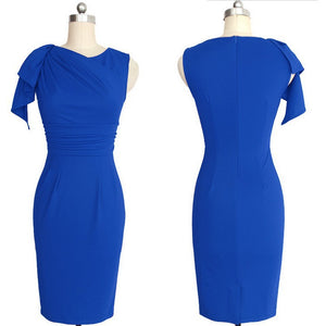 Elegant Sleeveless Solid Color Bodycon Dress