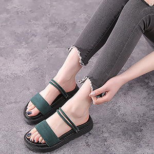 2019 New Fashion Slim Flat Bottom Sandals