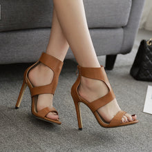 Sexy Fashion Hollow Roman High Heel Sandals