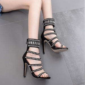 Summer New Peep-Toe Stiletto Super High Heels