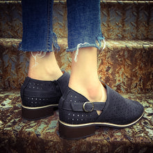 Plus Size Hollow Pointed Low Heel Casual Shoes