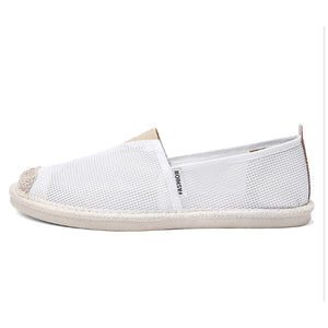Mesh Men's Straw Casual Breathable Flat Shoes