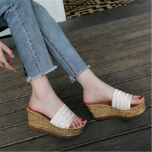 Summer Wedge Heel Thicken Sole Beach Slipper