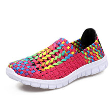 Summer Straw Weave Colorful Casual Flat Shoes