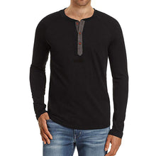 Long-Sleeve Half-Placket T-Shirt