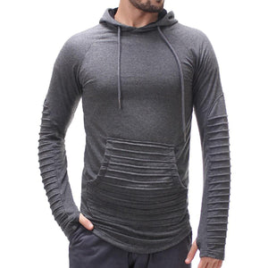 Fashion Mens Casual Solid Color Sport Hoodies