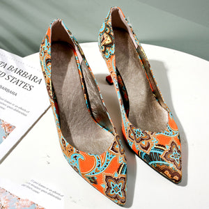National Style The New Color Matching Women's Shoes