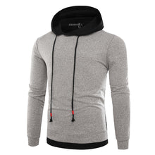 Contrast Marled Mock Two-Piece Hoodie
