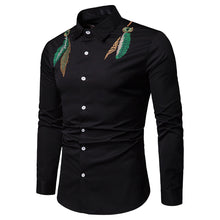 Solid Color Fashion Slim Long-Sleeved Shirt
