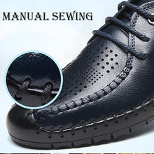 Business Casual Sandals Breathable Shoes   Leather Hole Shoes Non-Slip Soft Bottom