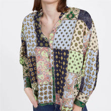 Fashion Round Collar Printed Loose Top