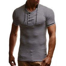 Fashion Stand Collar Slim Short-Sleeved Casual T-Shirt