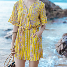 Bohemian Printed Seaside Resort Jumpsuit
