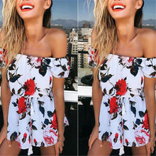 Casual Off Shoulder Floral Printed Jumpsuit