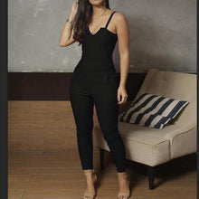 Solid Color Tight-Fitting High-Elastic Sling Jumpsuit