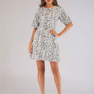 1022caaf3ca Daily Round Collar Floral Printed Shift Dress – LULULIKE
