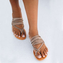Summer New Casual Flat Peep Toe Slippers