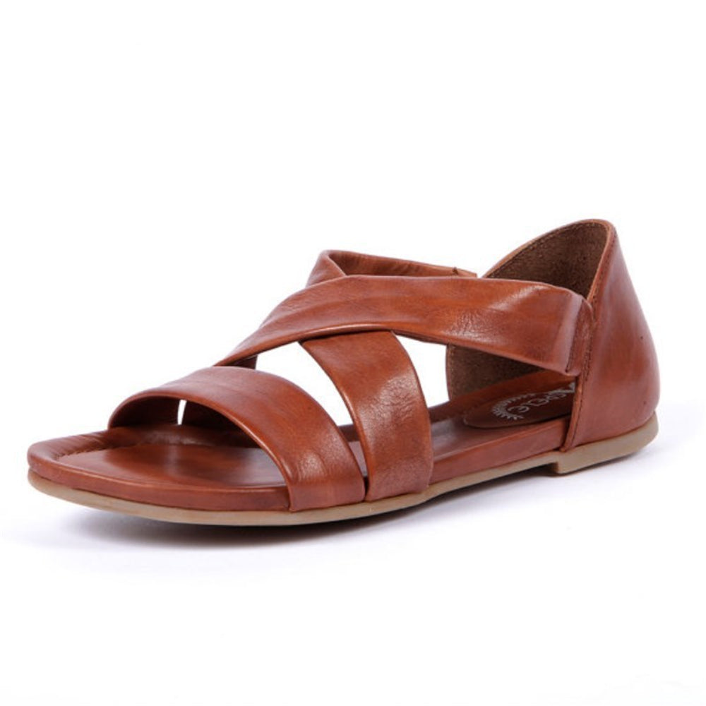 Summer Round Toe Plain Hollow Flat Sandal