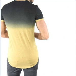 Daily Round Collar Plain Two Tone Slim Top