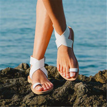 Beach Plain Open Toed Plain Cross Strap Flat Sandal