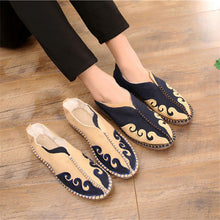 Casual Straw Weaving Chinese Style Linen Cloth Shoes