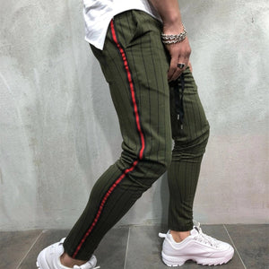 Casual Sports Slim Striped Tether Jogging Men's Trousers