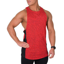 Men's Muscle Fitness Dot Printed Sports Vest T-Shirt