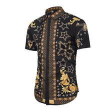 Fashion Lapel Printed Street Style Short Sleeves Shirt