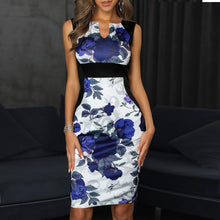 Printed Bag Hip Pencil Skirt Dress