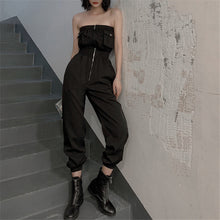 Fashion Tube Zipper Receive The Waist Tooling Style Jumpsuits