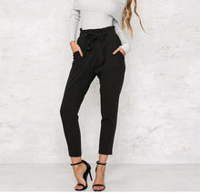 Elasticated Lace-Up Casual Pants