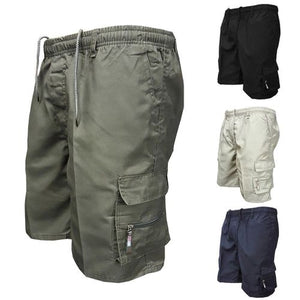 a2da59686f 2019 Men Multi Pocket Military Cargo Shorts Casual Cotton Loose Knee Length  Army Tactical Shorts Homme