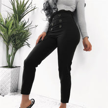 Sexy Lace Button Decorated Slim Casual Pencil Pant