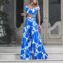 Fashion V-Neck Stitching Print   Jumpsuit