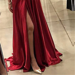 Sexy Crossover Halter Big Pendulum  Maxi Evening Dress