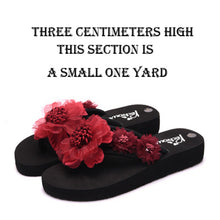 Fashionable Platform Slip-Proof Slippers For Outdoor Beach Shoes