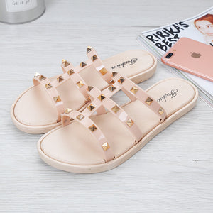 Fashion Women's Summer Wear Beach Shoes Flat Ladies Sandals And Slippers
