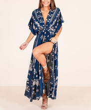 Sexy V-Neck Short-Sleeved Positioning Loose Mid-Rise Large Beach Dress