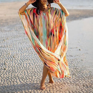 Oversized Chiffon Beach Blouse Holiday Beach Robes Beach Skirt