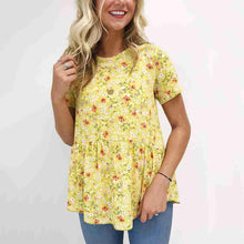 Fashion Round Neck Short-Sleeved Printed Top