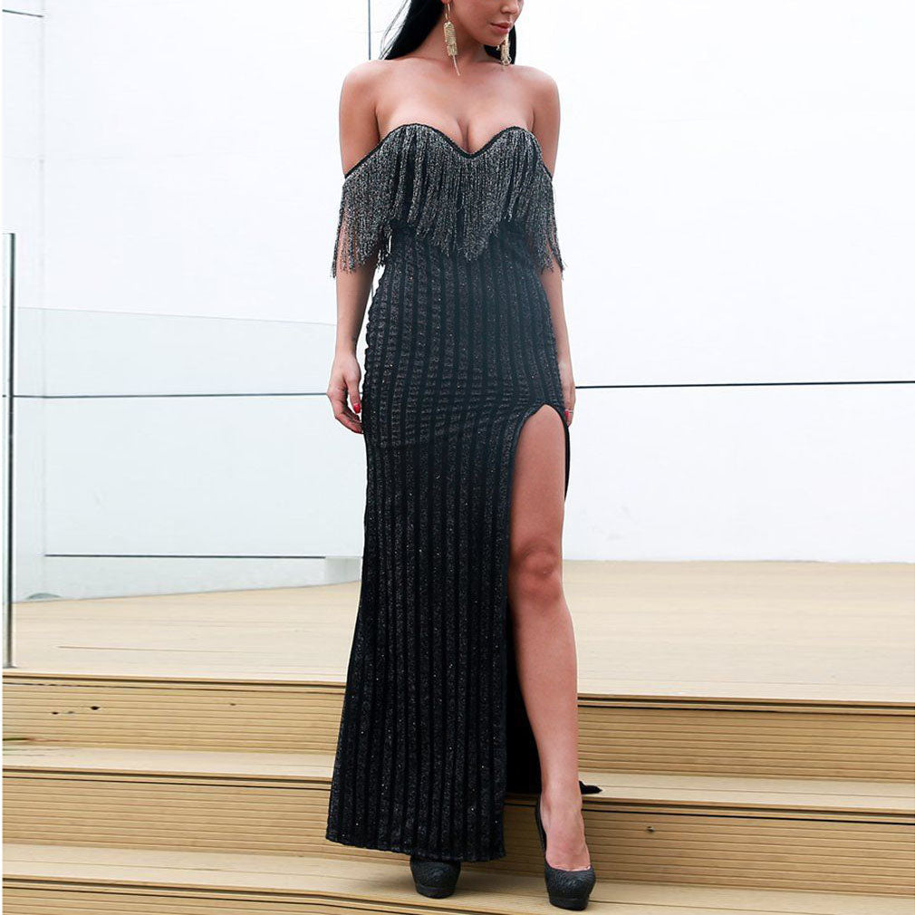 Sexy Sleeveless Tube Top Maxi Dress