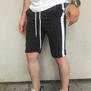 Casual Knit Slim Fit Pocket Stripe Shorts