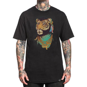 Jaguar Digital Printed Casual Short Sleeve T-Shirt
