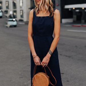 Sex Fashion Tie Back Wide Leg Casual Jumpsuit