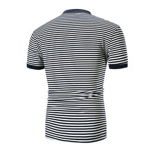 Striped Round Neck Casual Slim