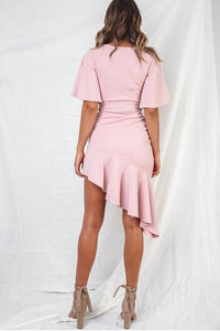 Open Chest Collar Waist Hem   Dress(Video)