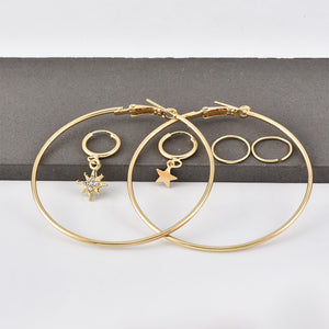 Net Red INS Color Alloy Earrings